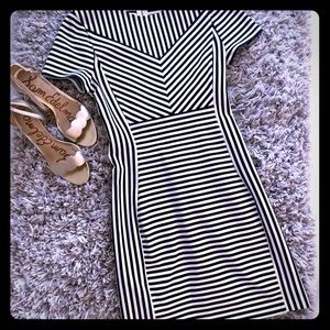 Express XS Black and White Stripped Dress